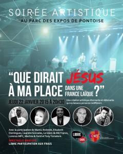 parc expos de Pointoise soiree artistique jeudi 22 janvier