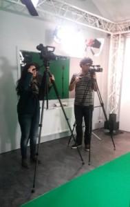caméraman au studio