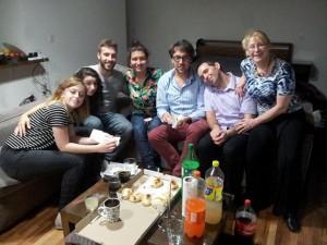 Martina et Farid avec le groupe de la premiere heure à Buenos Aires