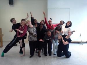 Innovofrance : stage danse et mime 2015 , les participants