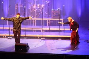 Martina et Farid sur scène